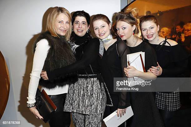 Kimberly Marteau Emerson, designer Dorothee Schumacher, twins Taylor and Hayley Emerson and Jacqueline Emerson are seen at the Dorothee Schumacher...