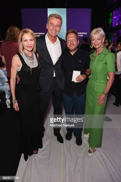 Kimberly Marteau Emerson Detlef Braun Sven Thierhoff and AnnKathrin Linsenhoff attend the Greenshowroom Selected show during the Berlin Fashion Week...