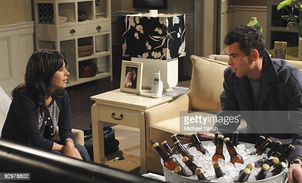 HOSPITAL Kimberly McCullough and Jason Thompson in a scene that airs the week of November 16 2009 on Walt Disney Television via Getty Images...