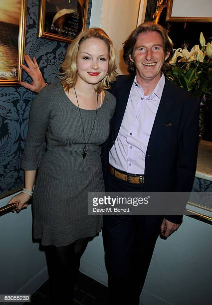 Kimberly Nixon and Adrian Dunbar attend the press night of 'Girl With A Pearl Earring' at the Theatre Royal Haymarket on September 29 2008 in London...