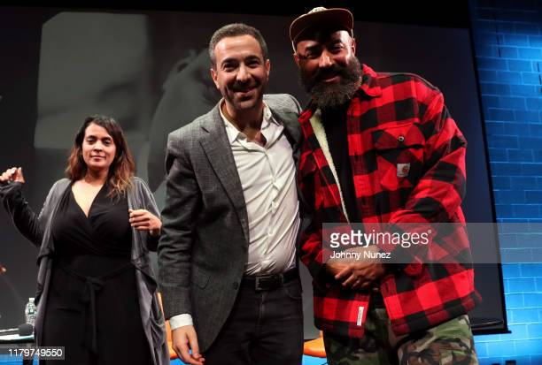 Kimberly Osorio Ari Melber and Ebro Darden attend Things Done Changed Celebrating The 25th Anniversary Of The Notorious BIG's Ready To Die at BRIC on...
