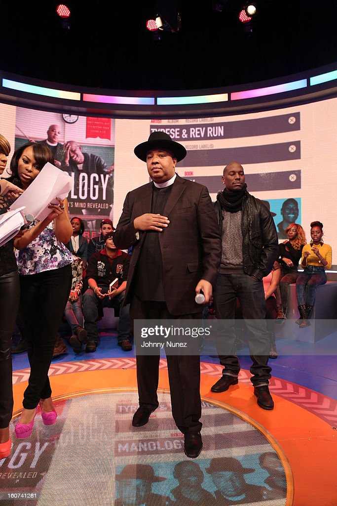 Kimberly 'Paigion' Walker hosts BET's '106 & Park' with celebrity guests Rev Run and Tyrese at 106 & Park Studio on February 4, 2013 in New York City.
