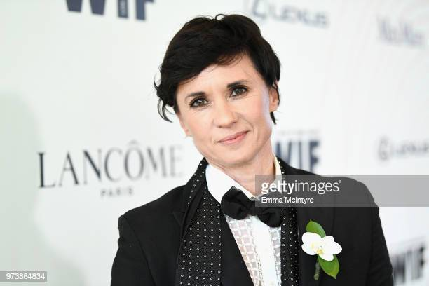 Kimberly Peirce attends the Women In Film 2018 Crystal Lucy Awards presented by Max Mara Lancôme and Lexus at The Beverly Hilton Hotel on June 13...
