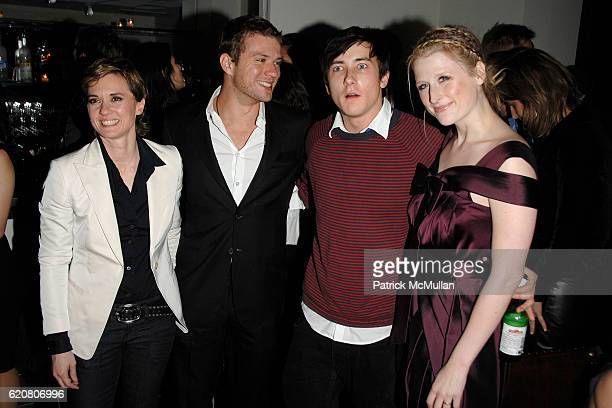 Kimberly Peirce Ryan Phillippe Alex Frost and Mamie Gummer attend THE CINEMA SOCIETY GQ host the after party for 'STOPLOSS' at Gramercy Park Hotel on...