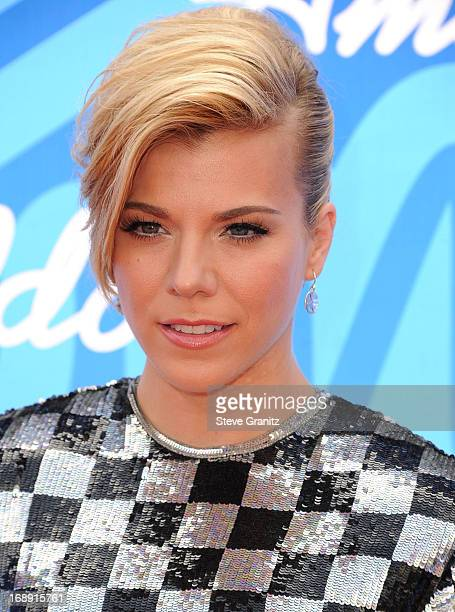 Kimberly Perry arrives at the FOX's 'American Idol' Grand Finale at Nokia Theatre LA Live on May 16 2013 in Los Angeles California