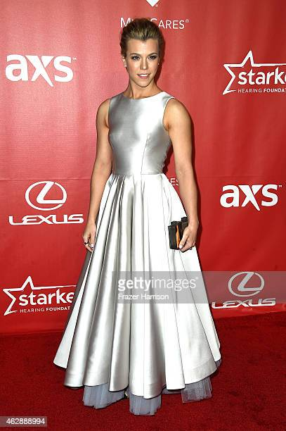 Kimberly Perry of The Band Perry attends the 25th anniversary MusiCares 2015 Person Of The Year Gala honoring Bob Dylan at the Los Angeles Convention...