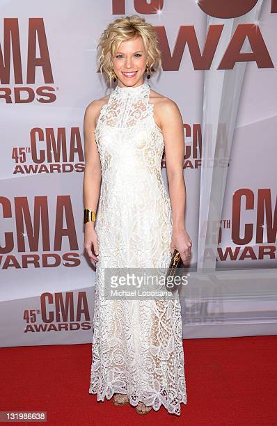 Kimberly Perry of The Band Perry attends the 45th annual CMA Awards at the Bridgestone Arena on November 9 2011 in Nashville Tennessee