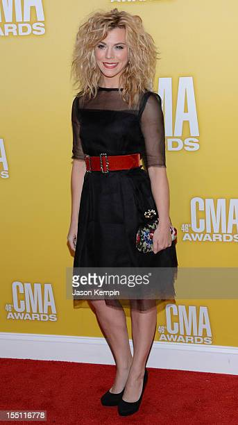 Kimberly Perry of The Band Perry attends the 46th annual CMA Awards at the Bridgestone Arena on November 1 2012 in Nashville Tennessee