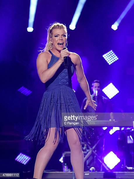 Kimberly Perry of The Band Perry performs at LP Field during the 2015 CMA Festival on June 12, 2015 in Nashville, Tennessee.