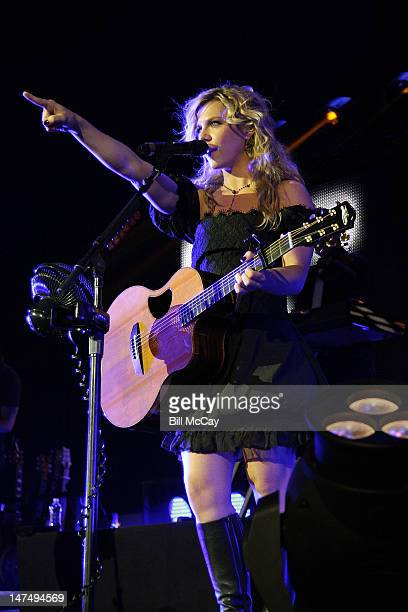 Kimberly Perry of The Band Perry performs at the Susquehanna Bank Center on June 30 2012 in Camden New Jersey