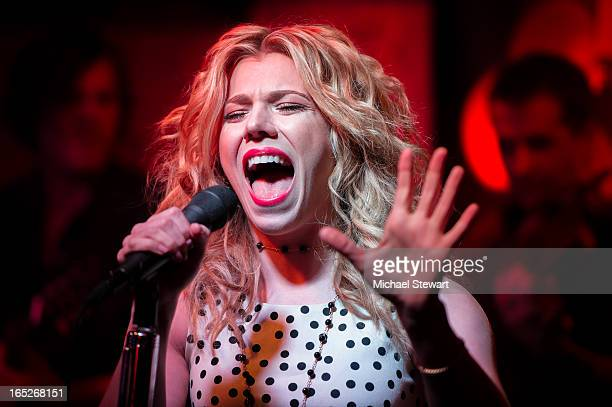 Kimberly Perry of The Band Perry performs during NASH FM 947 Presents Up Close And Country The Band Perry at Hill Country Barbecue Market on April 2...