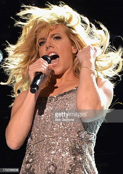 Kimberly Perry of The Band Perry performs during the 2013 CMA Music Festival on June 9 2013 in Nashville Tennessee