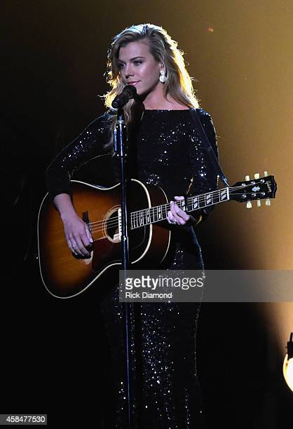 Kimberly Perry of The Band Perry performs during the 48th annual CMA Awards at the Bridgestone Arena on November 5 2014 in Nashville Tennessee