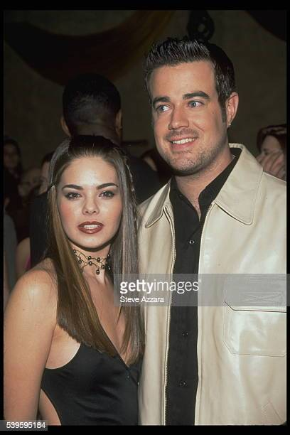 Kimberly Pressler Miss USA 99 and Carson Daly the pageant host