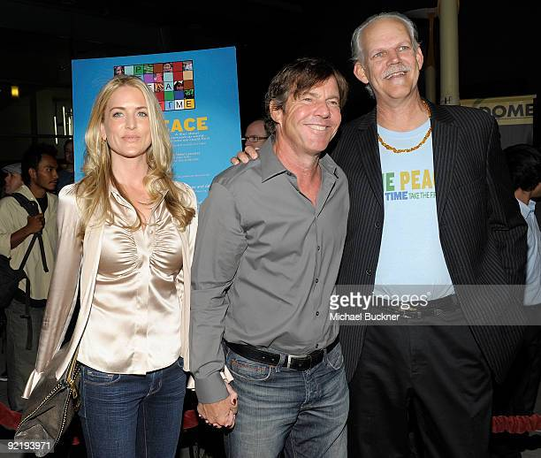 Kimberly Quaid actor Dennis Quaid and director Turk Pipkin arrive at The Nobelity Project's One Peace At A Time screening at the ArcLight Theatre on...