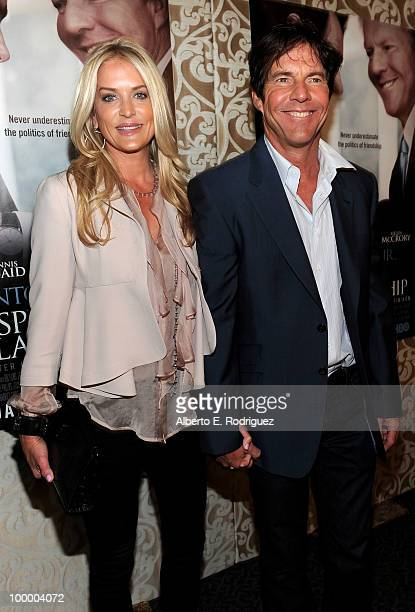 Kimberly Quaid and actor Dennis Quaid arrive at the Los Angeles premiere of HBO Films' The Special Relationship at the DGA Theater on May 19 2010 in...