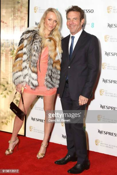 Kimberly Quaid and Dennis Quaid attend the British Academy Film Awards Nominees Party at Kensington Palace on February 17 2018 in London England