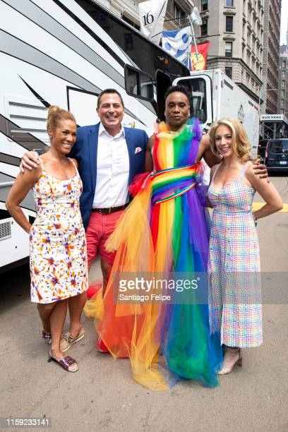 Kimberly Richardson, Ken Rosato, Billy Porter and Lauren Glassberg at WorldPride NYC 2019 on June 30, 2019 in New York City.