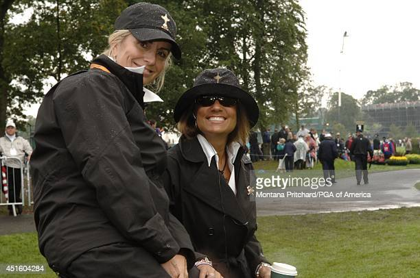 Kimberly Roberts and Melissa Lehman on the first tee during round 4 Singles matches at the Ryder Cup held at The KClub in Straffan Ireland Sunday...