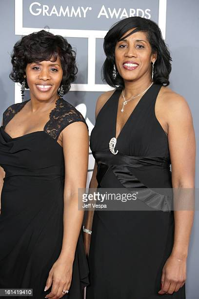 Kimberly Ruffin and Cheryl Ruffin attend the 55th Annual GRAMMY Awards at STAPLES Center on February 10 2013 in Los Angeles California