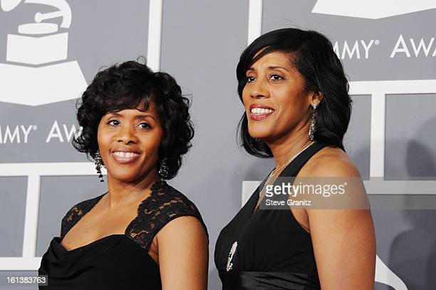 Kimberly Ruffin and Cheryl Ruffin attends the 55th Annual GRAMMY Awards at STAPLES Center on February 10 2013 in Los Angeles California