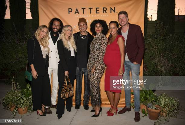 Kimberly Ryan Ross Naess Ashlee Simpson Ross Evan Ross Tracee Ellis Ross Chudney Ross and Joshua Faulkner at the launch of Tracee Ellis Ross' Pattern...