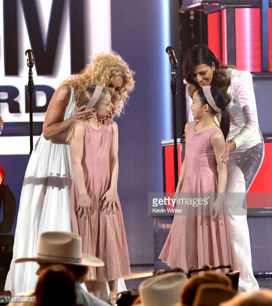 Kimberly Schlapman and Karen Fairchild of Little Big Town perform onstage during the 54th Academy Of Country Music Awards at MGM Grand Garden Arena...