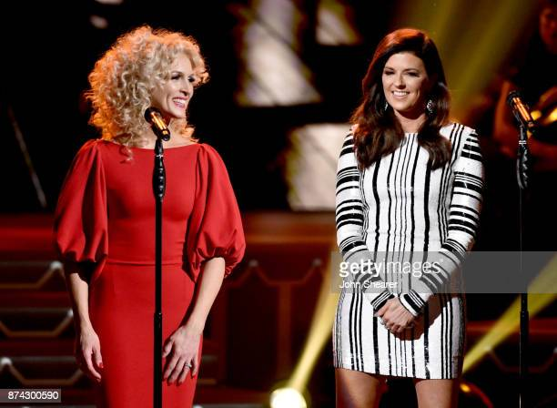 Kimberly Schlapman and Karen Fairchild of Little Big Town perform onstage for CMA 2017 Country Christmas at The Grand Ole Opry on November 14 2017 in...