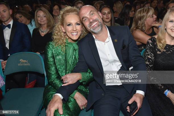 Kimberly Schlapman and Stephen Schlapman attend the 53rd Academy of Country Music Awards at MGM Grand Garden Arena on April 15 2018 in Las Vegas...