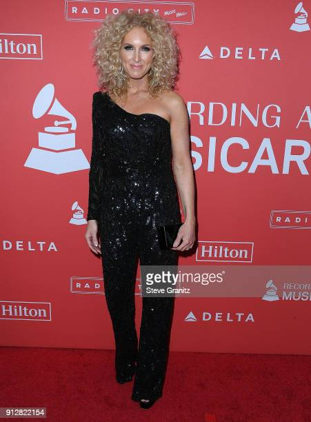 Kimberly Schlapman arrives at the 60th Annual GRAMMY Awards MusiCares Person Of The Year Honoring Fleetwood Mac on January 26 2018 in New York City