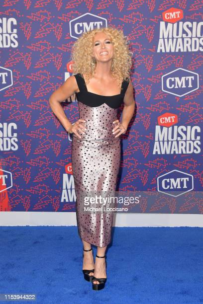 Kimberly Schlapman attends the 2019 CMT Music Awards at Bridgestone Arena on June 05 2019 in Nashville Tennessee