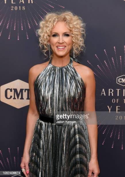 Kimberly Schlapman of Little Big Town attends the 2018 CMT Artists of The Year at Schermerhorn Symphony Center on October 17 2018 in Nashville...