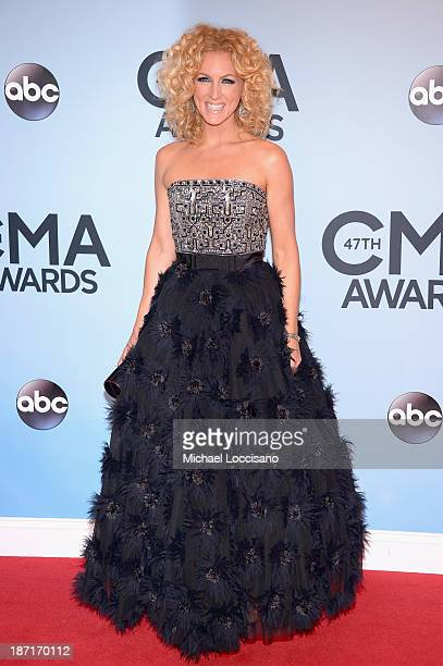 Kimberly Schlapman of Little Big Town attends the 47th annual CMA Awards at the Bridgestone Arena on November 6 2013 in Nashville Tennessee