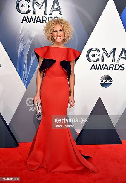 Kimberly Schlapman of Little Big Town attends the 49th annual CMA Awards at the Bridgestone Arena on November 4 2015 in Nashville Tennessee