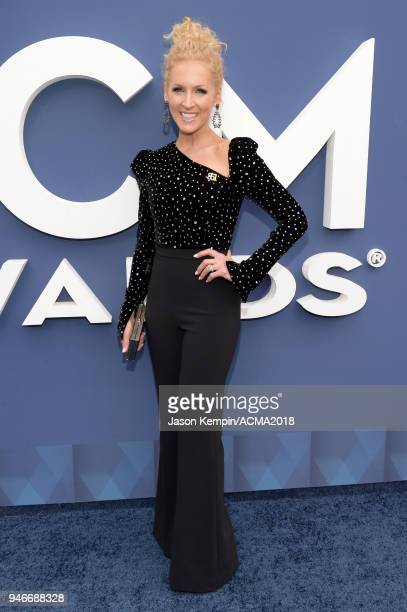 Kimberly Schlapman of Little Big Town attends the 53rd Academy of Country Music Awards at MGM Grand Garden Arena on April 15 2018 in Las Vegas Nevada