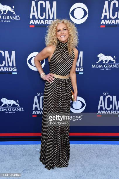 Kimberly Schlapman of Little Big Town attends the 54th Academy Of Country Music Awards at MGM Grand Hotel & Casino on April 07, 2019 in Las Vegas,...