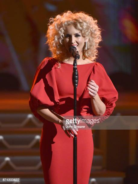 Kimberly Schlapman of Little Big Town perform onstage for CMA 2017 Country Christmas at The Grand Ole Opry on November 14 2017 in Nashville Tennessee