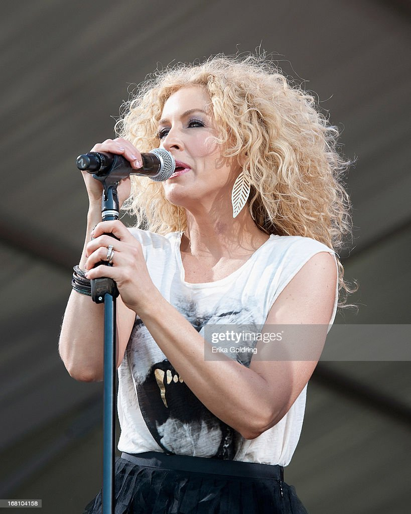 Kimberly Schlapman of Little Big Town performs during the 2013 New Orleans Jazz & Heritage Music Festival at Fair Grounds Race Course on May 4, 2013 in New Orleans, Louisiana.