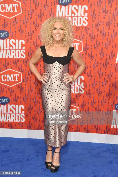 Kimberly Schlapman of musical group Little Big Town attend the 2019 CMT Music Award at Bridgestone Arena on June 05 2019 in Nashville Tennessee
