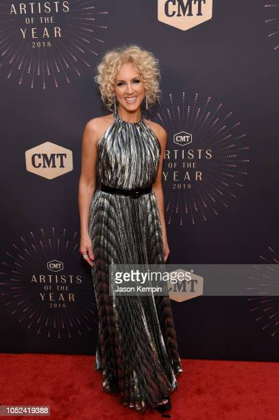 Kimberly Schlapman of musical group Little Big Town attends the 2018 CMT Artists of The Year at Schermerhorn Symphony Center on October 17 2018 in...