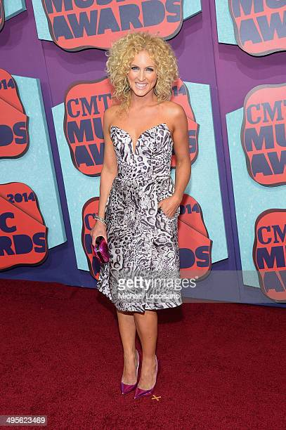 Kimberly Schlapman of the band 'Little Big Town' attends the 2014 CMT Music awards at the Bridgestone Arena on June 4 2014 in Nashville Tennessee