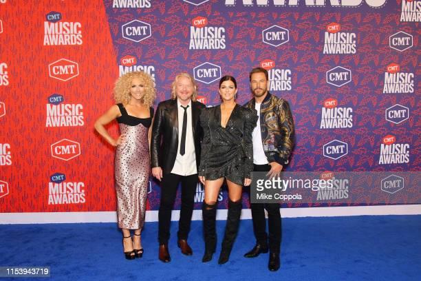 Kimberly Schlapman, Phillip Sweet, Karen Fairchild and Jimi Westbrook of musical group Little Big Town attend the 2019 CMT Music Award at Bridgestone...