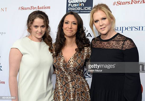 Kimberly Schumer Rachel Feinstein and Amy Schumer attend Comedy Central Night Of Too Many Stars at Beacon Theatre on February 28 2015 in New York City
