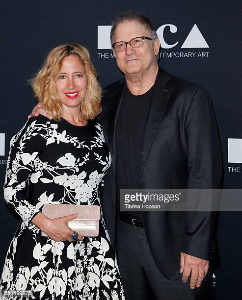 Kimberly Shlain and Albert Brooks attend the 2016 MOCA Gala at The Geffen Contemporary at MOCA on May 14 2016 in Los Angeles California