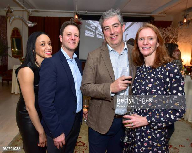 Kimberly Spacek Jason Spacek Anthony Ziccardi and Katherine Ziccardi attend 'The Initiation' Book Launch at Bouley TK on March 15 2018 in New York...