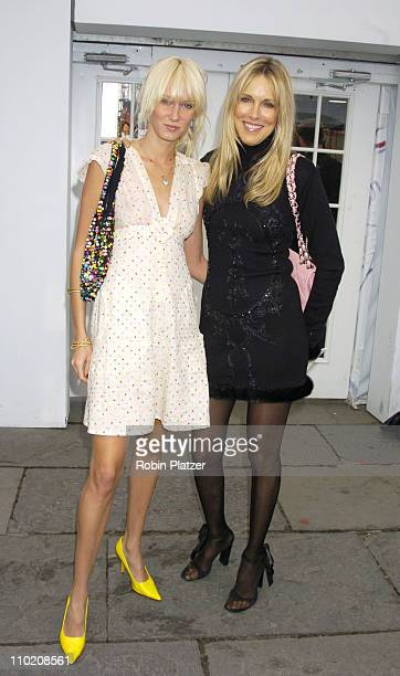 Kimberly Stewart and Alana Stewart during Olympus Fashion Week Spring 2005 Zang Toi Front Row and Backstage at Plaza Tent Bryant Park in New York New...