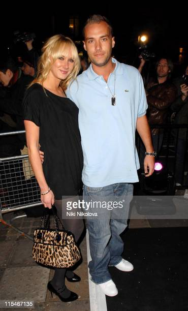 Kimberly Stewart and Calum Best during Pinko Cocktail Party Outside Arrivals at 121 Brompton Street in London Great Britain