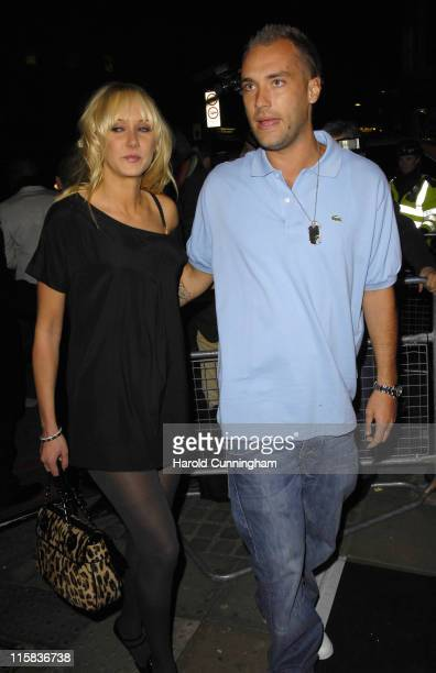 Kimberly Stewart and Calum Best during Pinko Cocktail Party Outside Arrivals at Pinko in London United Kingdom