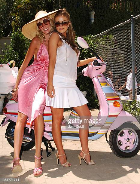 Kimberly Stewart and Carmen Electra during The Coach Luncheon to Benefit Peace Games at the Home of Quincy Jones at Quincy Jones' House in Beverly...