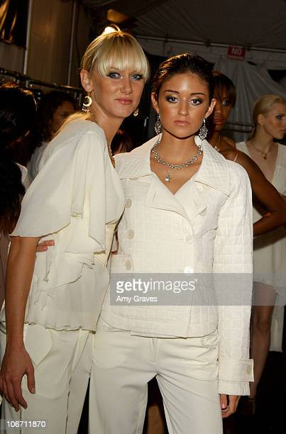 Kimberly Stewart and Caroline D'Amore during 2003 Smashbox Fashion Week Los Angeles Sherri Bodell Spring Collection 2004 Backstage at Smashbox in...